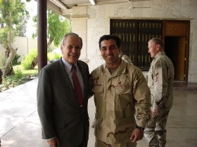 With Donald Rumsfeld