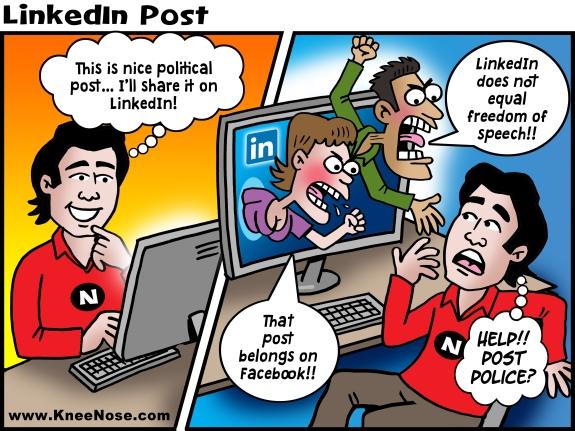 LinkedIn Post Police